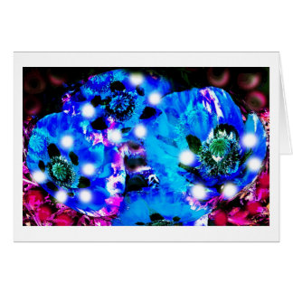 BLUE POPPY SPIRITS GREETING CARD