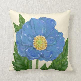 Blue Poppy square pillow