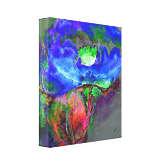 Blue Poppy Stretched Canvas Prints