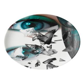 Blue Porcelain Serving Platter