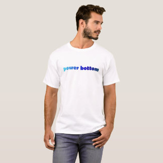 Blue Power Bottom LGBT NSFW tee