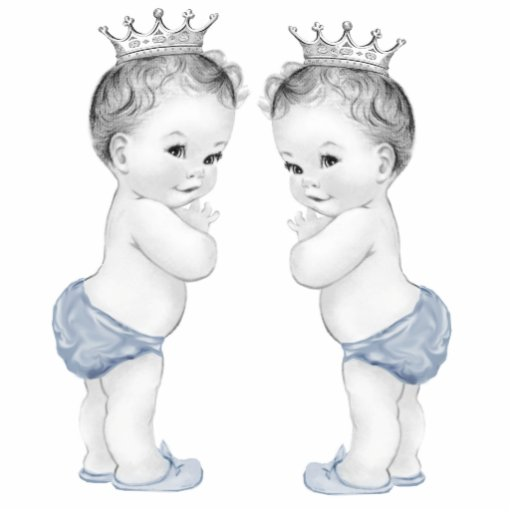 Blue Prince Twin Boy Baby Shower Cut Out