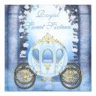 Blue Princess Carriage Enchanted Sweet 16 Card