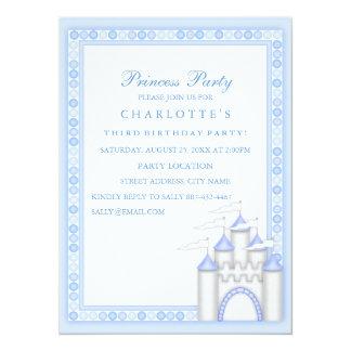 Blue Princess Party Birthday Invitation