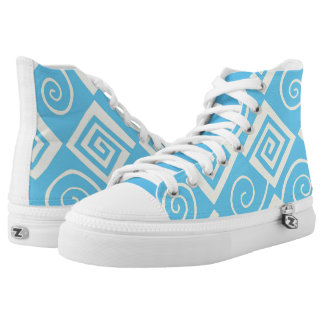 Blue Printed Shoes