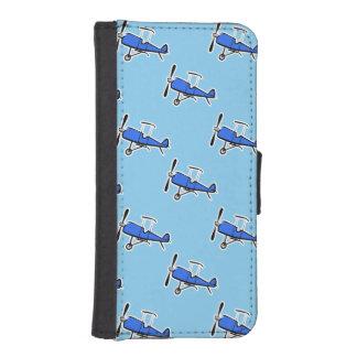 Blue Prop Biplane; Small Plane, Airplane Pattern iPhone 5 Wallet