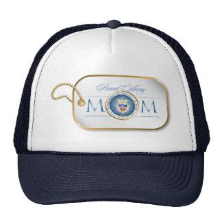 Blue Proud Army Mom Dog Tag Cap