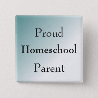 Blue Proud Homeschool Parent 15 Cm Square Badge