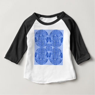 Blue Psychedelic Spheres Baby T-Shirt