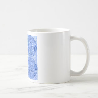 Blue Psychedelic Spheres Coffee Mug