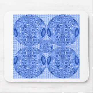 Blue Psychedelic Spheres Mouse Pad