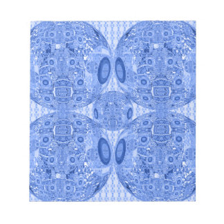 Blue Psychedelic Spheres Notepad