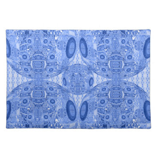 Blue Psychedelic Spheres Placemat