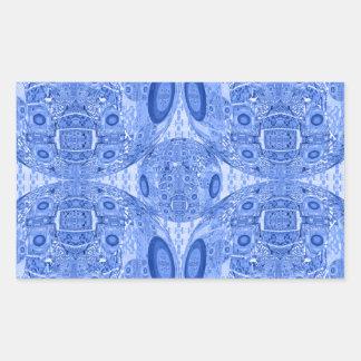 Blue Psychedelic Spheres Rectangular Sticker
