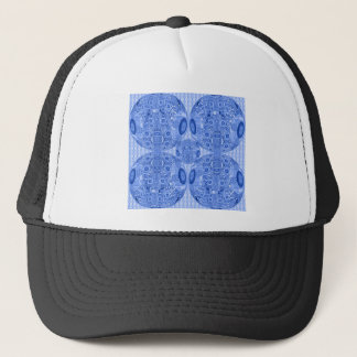 Blue Psychedelic Spheres Trucker Hat