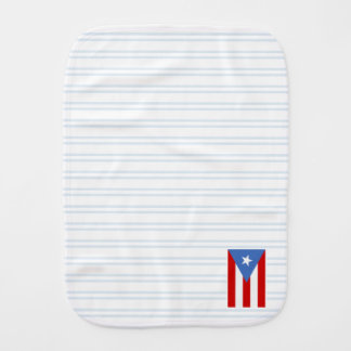 Blue: Puerto Rico Flag Burp Cloth