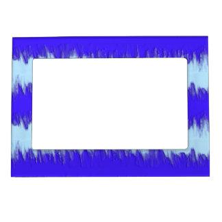 blue pulse picture frame magnet