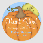 Blue Pumpkin Baby Shower Thank You Stickers