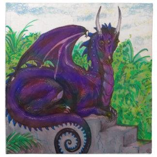 Blue Purp Dragon Dragoness Crimson Fantasy Monster Napkin