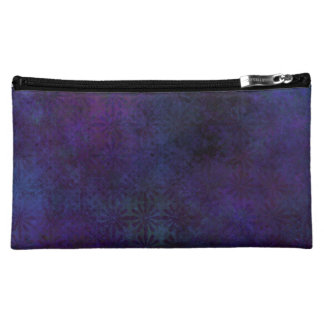 Blue & Purple Abstract, Grungy Digital Art Cosmetic Bag