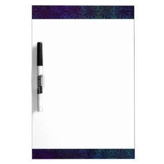 Blue & Purple Abstract, Grungy Digital Art Dry-Erase Whiteboard