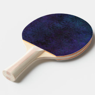 Blue & Purple Abstract, Grungy Digital Art, Remix Ping Pong Paddle