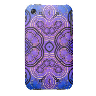 Blue Purple Abstract Pattern iPhone 3 Case-Mate Case