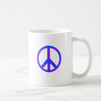 Blue/Purple Abstract Peace Symbol Mugs