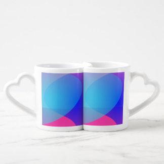 Blue Purple and Pink Minimalism Lake Couples Mug