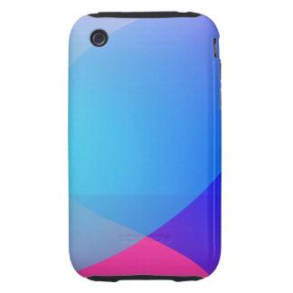 Blue Purple and Pink Minimalism Lake Tough iPhone 3 Case