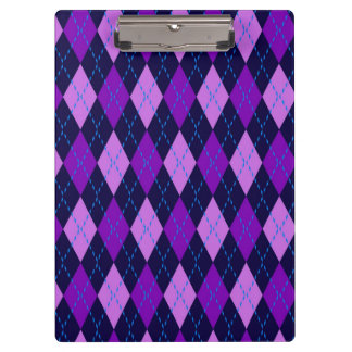 Blue Purple Argyle Pattern Clipboard