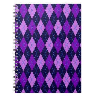 Blue Purple Argyle Pattern Notebooks