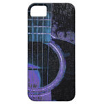 Blue,Purple,Black Guitar on Cell Phone Cover iPhone 5/5S Cases