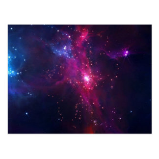 Blue Purple Bright Starry Sky Postcard