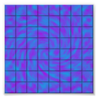 Blue/Purple Chocolate Bar Photo Print