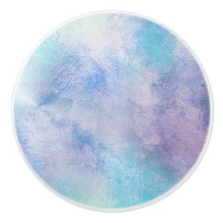 BLUE & PURPLE CLOUD DESIGN ON A CERAMIC KNOB
