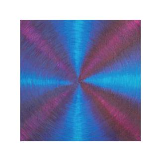 Blue, purple cross vortex canvas print