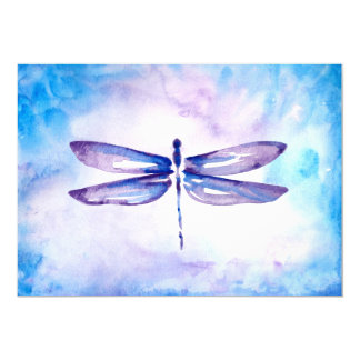 Blue & Purple Dragonfly Wedding Invitations