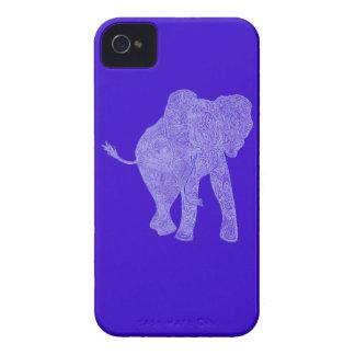 Blue/Purple Elephant iPhone 4 Case