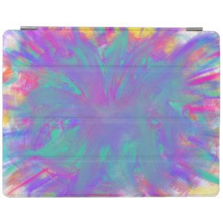 Blue Purple Flower Abstract Art Painting Design iPad Cover