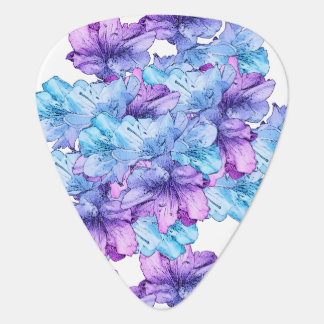 Blue Purple Flower Illustration Save the Date Plectrum