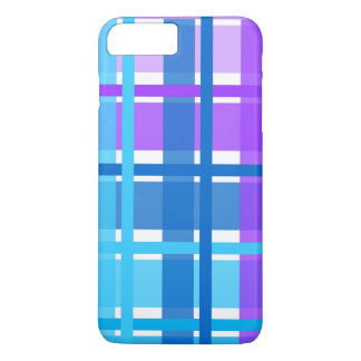 Blue & Purple Gingham Plaid iPhone 8 Plus/7 Plus Case