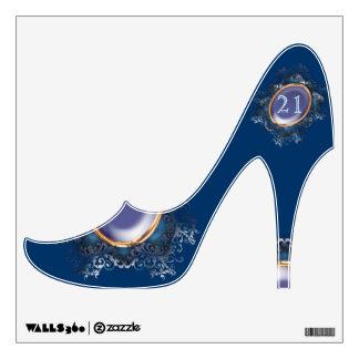 Blue purple girly fashion shoe