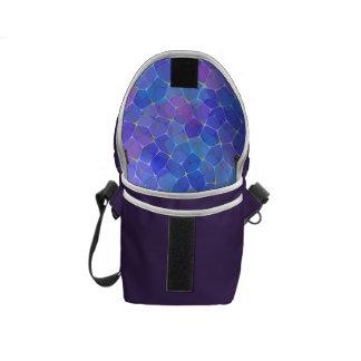 Blue Purple Glass Pentagon Monogram Messenger Bag