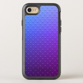 Blue Purple Gradient Faux Metal Texture OtterBox Symmetry iPhone 8/7 Case