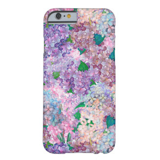 Blue Purple Hydrangea and Lilac Barely There iPhone 6 Case