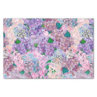 Blue Purple Hydrangea and Lilac Tissue Paper
