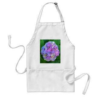 Blue Purple Hydrangea Flower Standard Apron