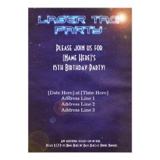 Blue Purple Laser Tag Invite