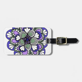 Blue Purple Mandala Luggage Tag